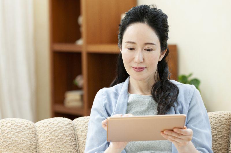 iPad 女性
